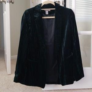 Worn once, crushed velvet blazer
